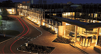 Image of an office complex at night