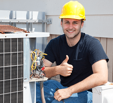 Image of a smiling airconditioning engineer